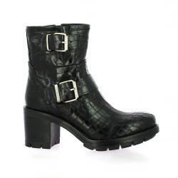 Paoyama Boots cuir croco noir