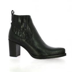 Spazio 08 Boots cuir serpent noir