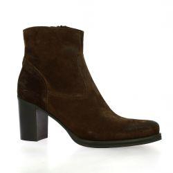 Spazio 08 Boots cuir velours marron