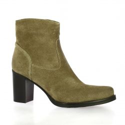 Spazio 08 Boots cuir velours taupe