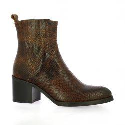 Spazio 08 Boots cuir python cognac