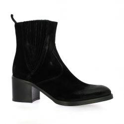 Spazio 08 Boots cuir velours noir