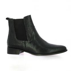 Vidi studio Boots cuir iguane noir