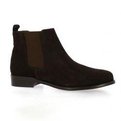Exit Boots cuir velours marron