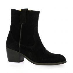 Ngy Boots cuir velours noir