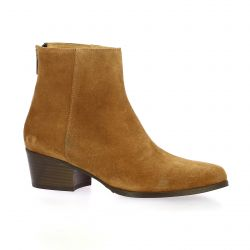 Ngy Boots cuir velours camel