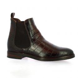 Exit Boots cuir croco marron