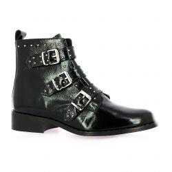 Impact Boots cuir vernis noir