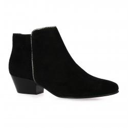 Boots cuir velours noir Impact