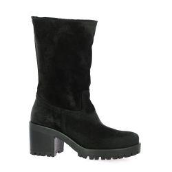 Stm Boots cuir velours noir