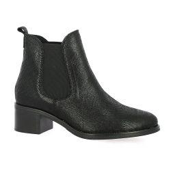 We do Boots cuir laminé noir