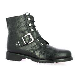 We do Boots cuir croco noir