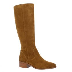 Impact Bottes cuir velours tabac