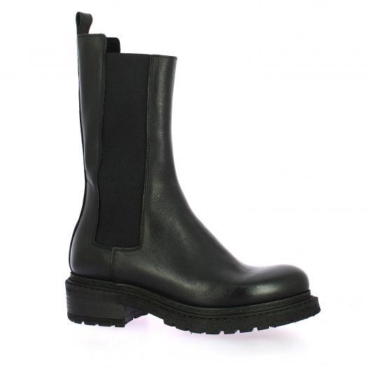 Metisse Boots cuir noir