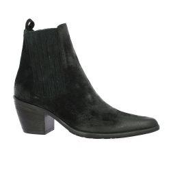 Crasto Boots cuir velours noir