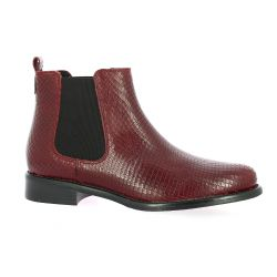 We do Boots cuir serpent bordeaux