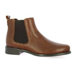 We do Boots cuir serpent cognac