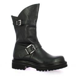 Pao Bottes cuir noir