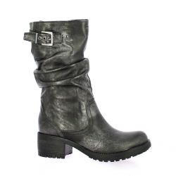 Pao Boots cuir laminé anthracite