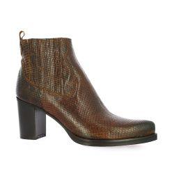 Spaziozero Boots cuir serpent cognac