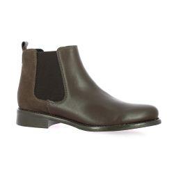 We do Boots cuir marron/serpent