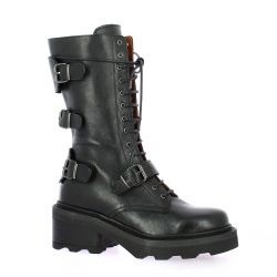 Paoyama Boots cuir noir