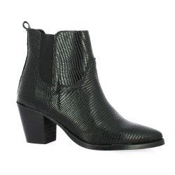 So send Boots cuir iguane noir