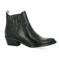 So send Boots cuir iguane noir