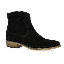 So send Boots cuir velours noir