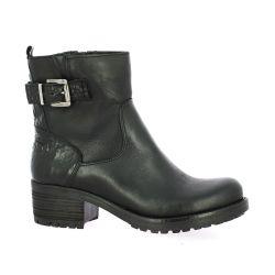 Pao Boots cuir croco noir