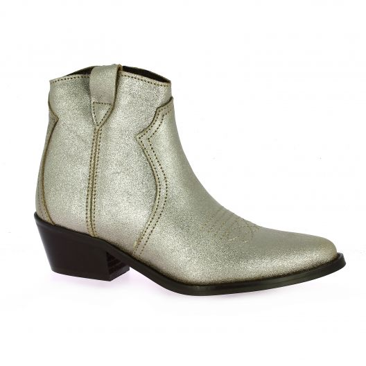 So send Boots cuir laminé taupe