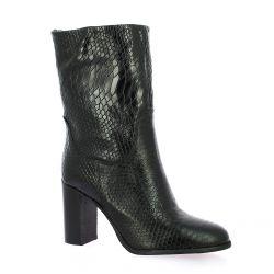 Pao Boots cuir serpent noir