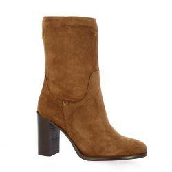 Elisir Boots cuir velours cognac
