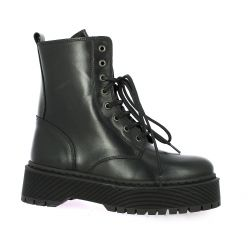 So send Boots cuir noir