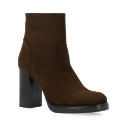 Nuova riviera Boots cuir velours marron