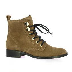 Impact Boots cuir velours kaki