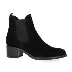 Firenze Boots cuir velours noir