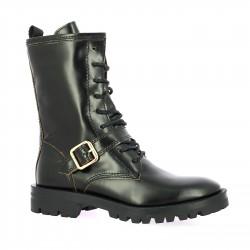 Alpe Boots cuir glacé noir