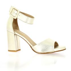 So Send Nu pieds cuir platine