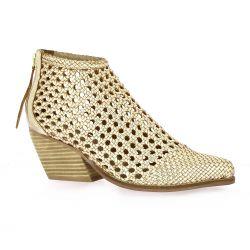 Reqins Boots cuir platine