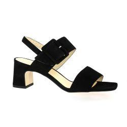 Sofia costa Nu pieds cuir velours noir