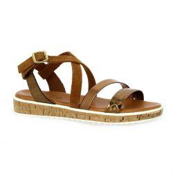 Exit Nu pieds cuir bronze/cognac
