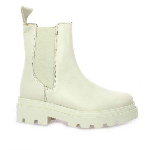 So send Boots cuir beige