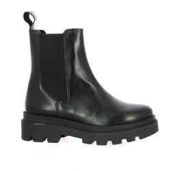 So send Boots cuir noir
