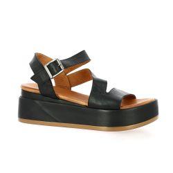 K.mary Nu pieds cuir noir
