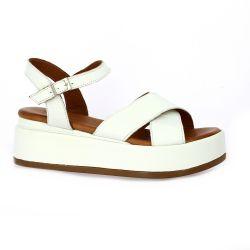 K.mary Nu pieds cuir blanc