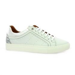 K.mary Baskets cuir blanc