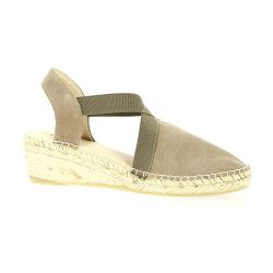 Exit Espadrille cuir velours taupe