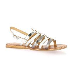 Les tropeziennes Nu pieds cuir argent