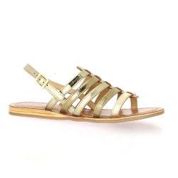 Les tropeziennes Nu pieds cuir or
